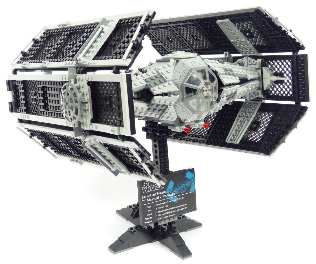 Review lego star wars 10175 tie advanced x1 - Vaisseau de dark vador ...