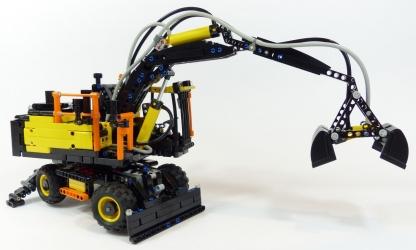 review lego technic 42053 pelle sur pneus. Black Bedroom Furniture Sets. Home Design Ideas