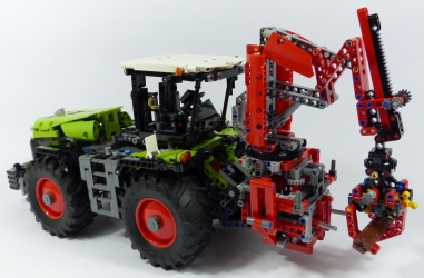 review lego technic 42054 tracteur agricole claas xerion 5000 trac vc. Black Bedroom Furniture Sets. Home Design Ideas