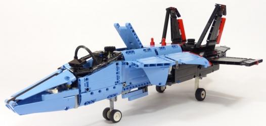 Review lego technic 42066 avion de chasse - Avion de chasse en lego ...