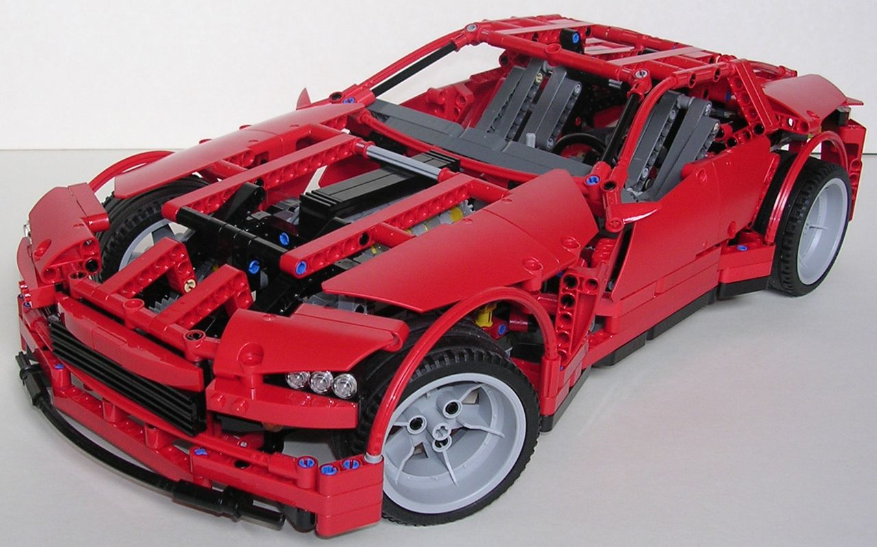 review lego technic 8070 supercar. Black Bedroom Furniture Sets. Home Design Ideas