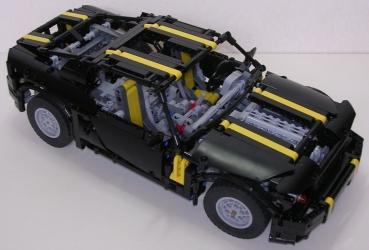 review lego technic nk02 pony car. Black Bedroom Furniture Sets. Home Design Ideas