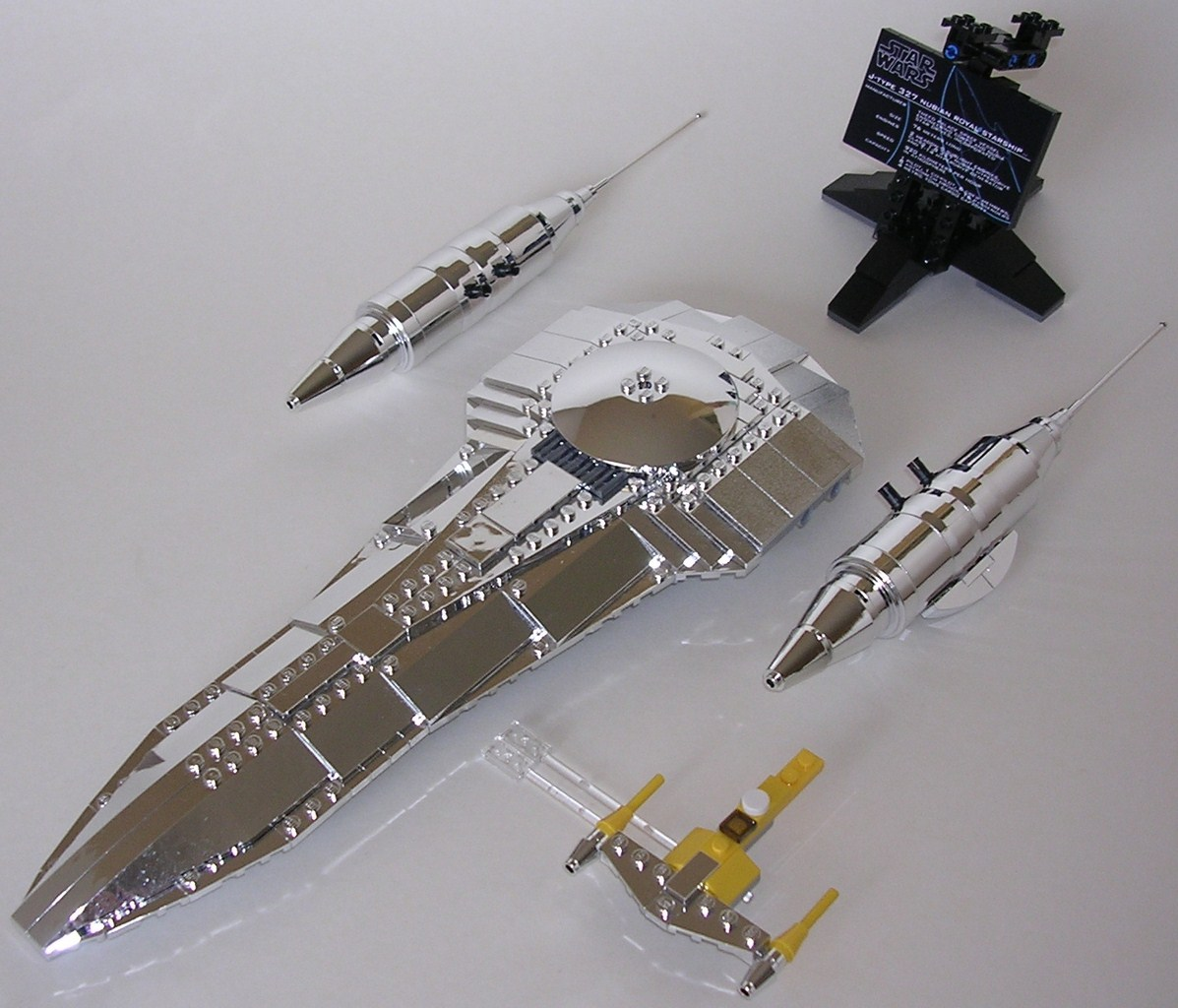 Review lego star wars st11 naboo royal starship - Vaisseau star wars anakin ...