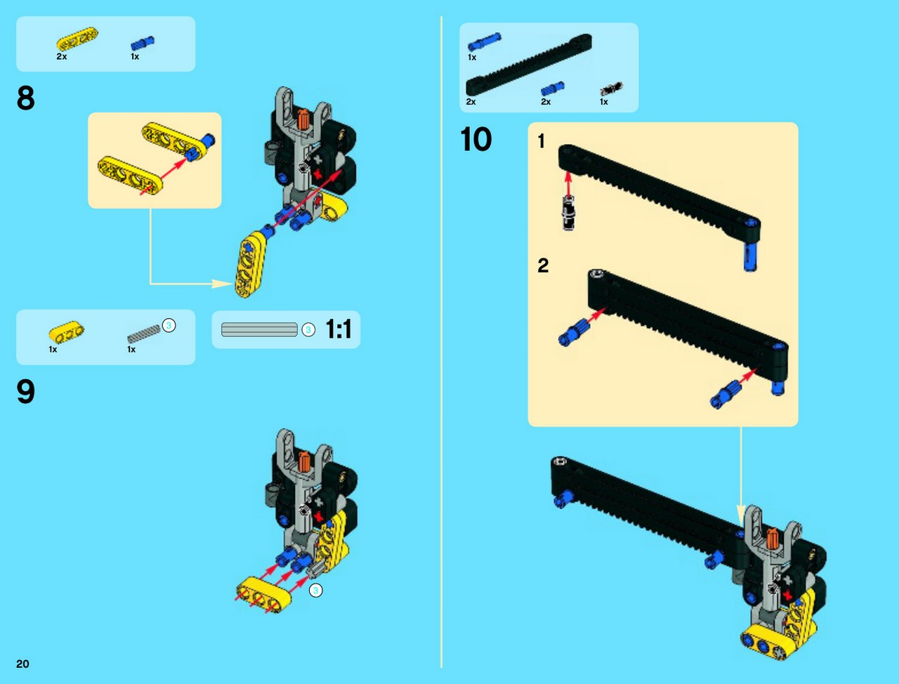 lego technic instructions 42009